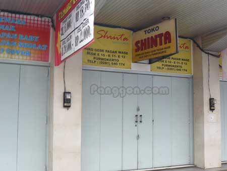 Toko Shinta Pasar Wage Purwokerto
