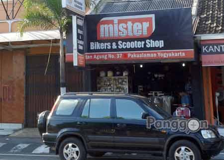 Toko Aksesoris Mister Bikers & Scooter Shop Jogja